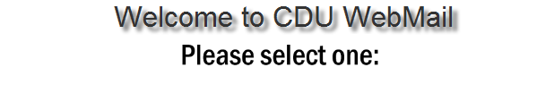 Welcome to CDUWebMail