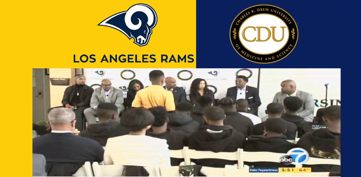 L.A. Rams on CDU Campus Covered by ABC7