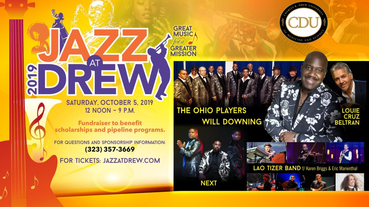 Jazz At Drew 2019 Tickets on Sale Now!