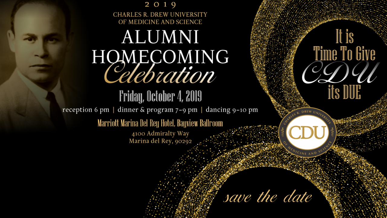 I-save-the-date: CDU HOMECOMING GALA - Biyernes, Oktubre 4, 2019